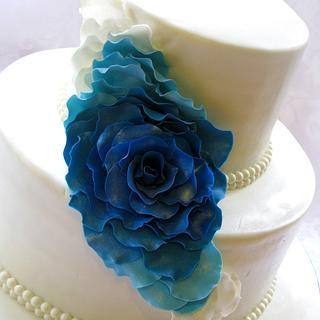 Cascading rose petal cake - Cake by Mira - Mirabella Desserts