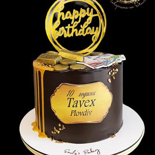 10 Years Tavex - Gold&Exchange - Cake by Emily's Bakery