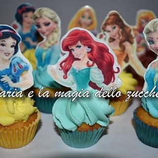 Disney princess minicupcakes