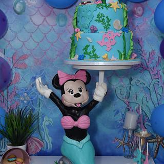 Minnie Mouse mermaid - Cake by Jelena Brkljac