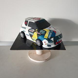 Rally car - Cake by Torturi Mary