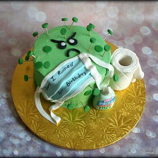 David's corona virus birthday cake