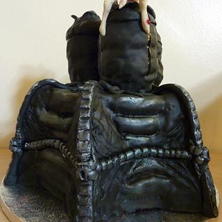 HR Geiger inspired Facehugger/Alien cake