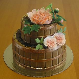 Flowerpots  cake