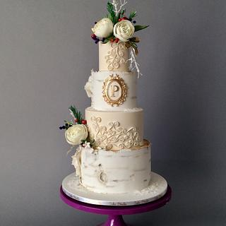 Wintery Rustic - Cake by Nina Notaro (Cake Studio)