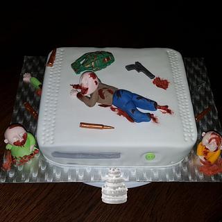 Call of Duty Black Ops Zombie - Cake by Pluympjescake