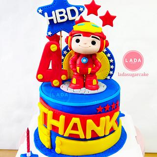 Baby Iron man birthday cake
