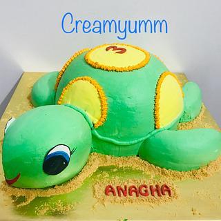 Life size Turtle Cake
