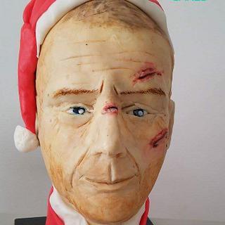 Yippee-ki-yay... Bruce Willis in his Santa attire.. CPC Christmas Collaboration