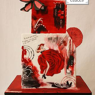 Abstract art cake