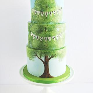 Arbor Day Cake
