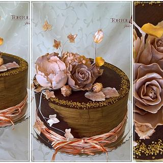 Gold roses & ganache