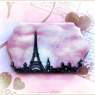 Paris icing cookie