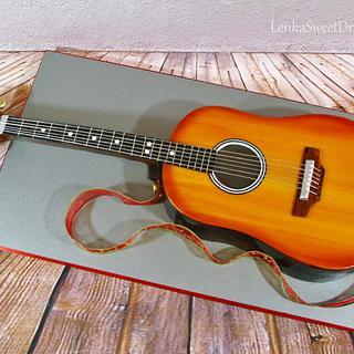 Acoustic Guitar cake.