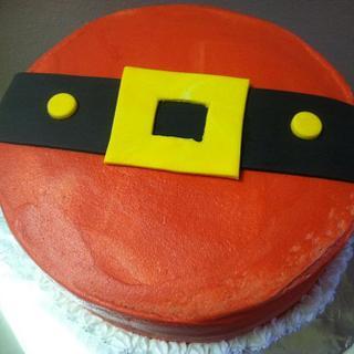 Santa Belly cake - Cake by Vero