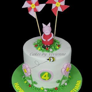 Peppa Pig 4th Birthday Cake - Cake by Cakes by Vivienne