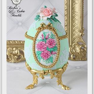 Fondant Cake Topper Sweet Easter Collaboration; Faberge Egg