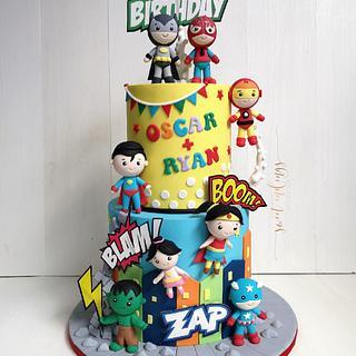 Superheros Unite! - Cake by Lulu Goh