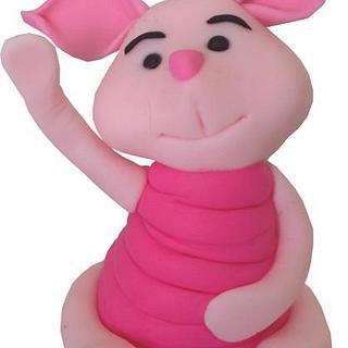 Piglet. Cake Topper