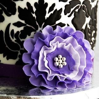 Purple Damask Rocking Horse Baby Shower
