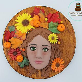 Autumn Dryad- Around the World in Sugar Collaboration - Cake by Anshalica Miles -Destiny's Delights Custom Cakes