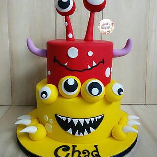 Monsterific Birthday Cake