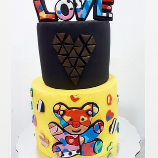 Valentines Romero Britto Cake