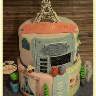Paris birthday cake - Cake by Konstantina - K & D's Sweet Creations