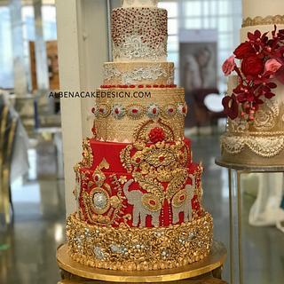 Indian Wedding Cake 4 - Cake by Albena