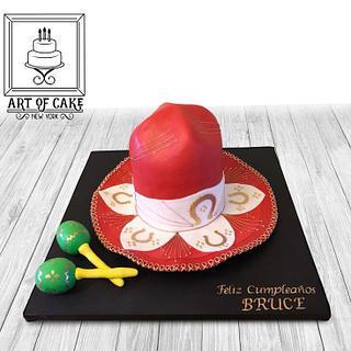 Red Sombrero Hat Cake