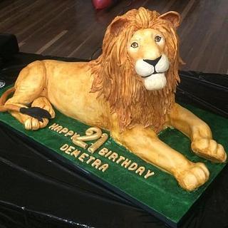 21ST LION CAKE