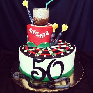 50th birthday  - Cake by res3boys