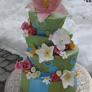 Funky Flowers - Cake by Elyse Rosati