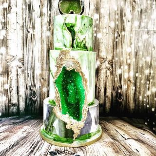Geode cake - Cake by SU.! CUPCAKE