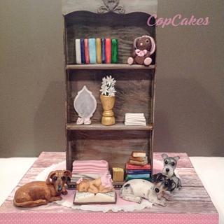 Bookshelf cake - Cake by CopCakes