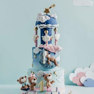 Dreamy carousel cake