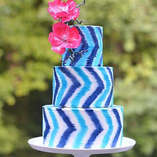 IKAT chevron cake