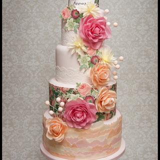 Whimsical Wafer Paper Wedding