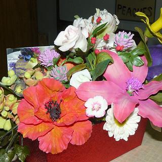 sugar flower arrangment