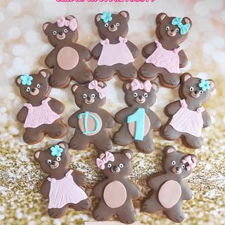 Teddy bear cookies🐻