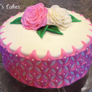 Diamonds and Roses Cake