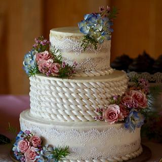 rope wedding cake