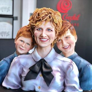 Lady Diana Realistic Cake