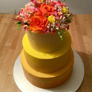Summer weddingcake