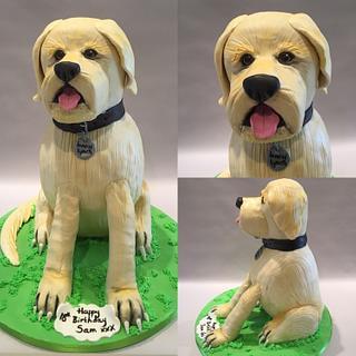 """18"""" high Labrador cake"""