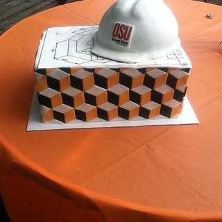 Civil Engineer graduation cake