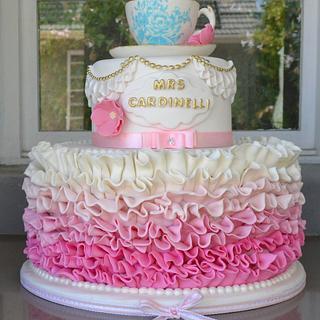 Wedding shower cake