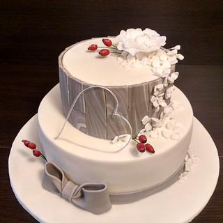Winter wedding cake - Cake by TinkaCakes