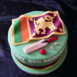 Sri Lanka Cricket Cake