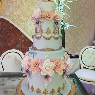 SPRING WEDDING CAKE - Cake by wisha's cakes